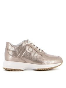 Hogan - Interactive rose gold  sneakers