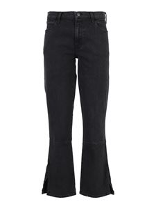 J Brand - Vented bootcut jeans in blue