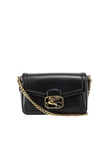 Etro - Pegaso buckle smooth leather bag in black