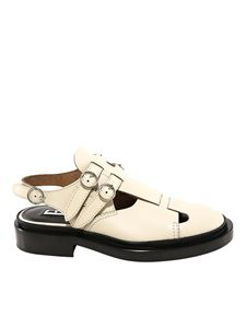 Jil Sander - Double buckled sandals in white