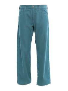 massimo alba - Alosa corduroy pants in light blue