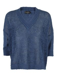 Roberto Collina - Drilled jumper in blue