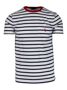 POLO Ralph Lauren - Striped T-shirt in white and blue
