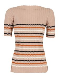 Roberto Collina - Ribbed striped jumper in pink