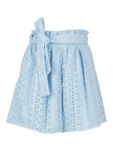 Federica Tosi - Cotton broderie anglaise shorts in Cielo color