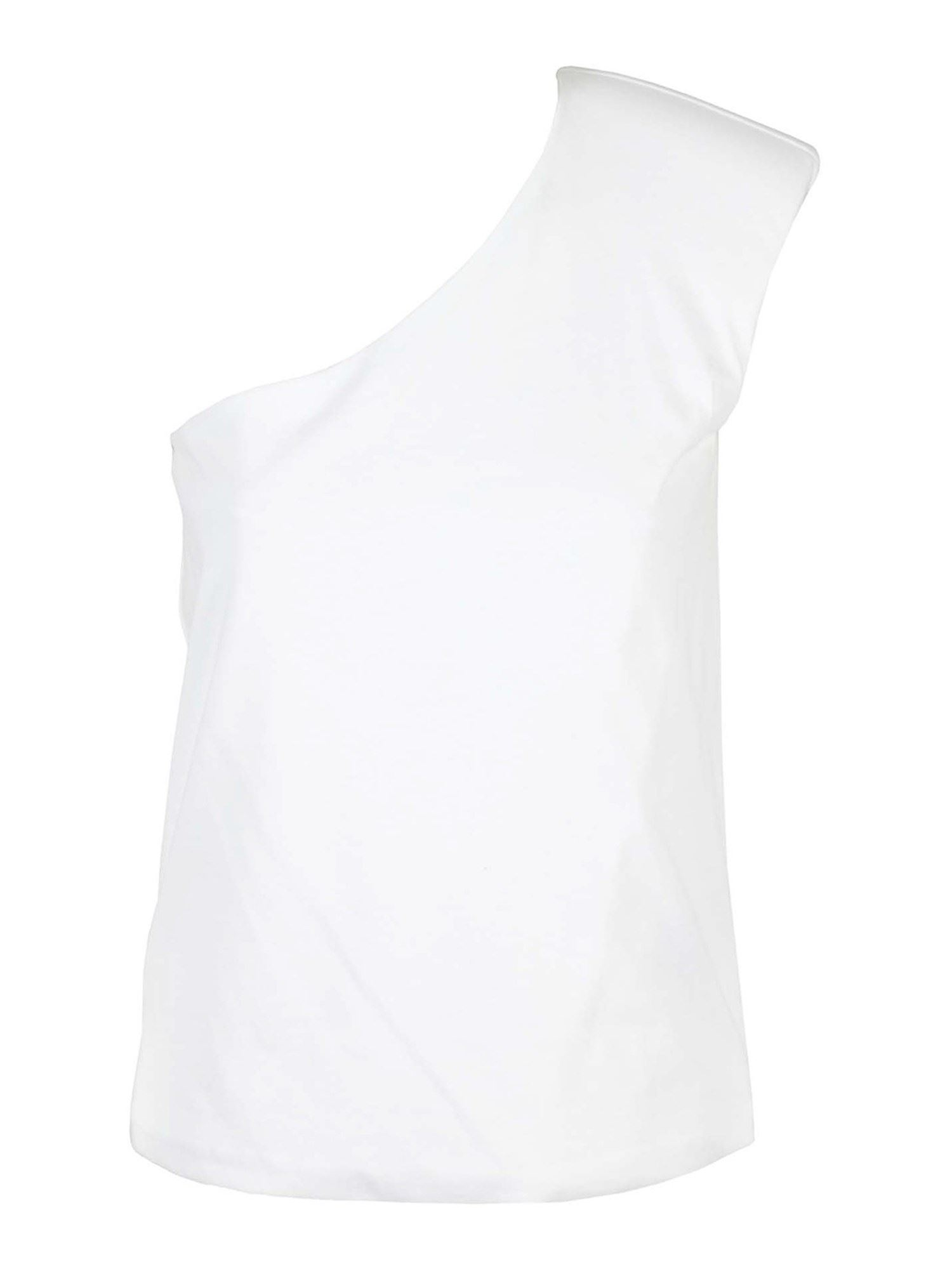 Federica Tosi ONE SHOULDER TOP IN WHITE