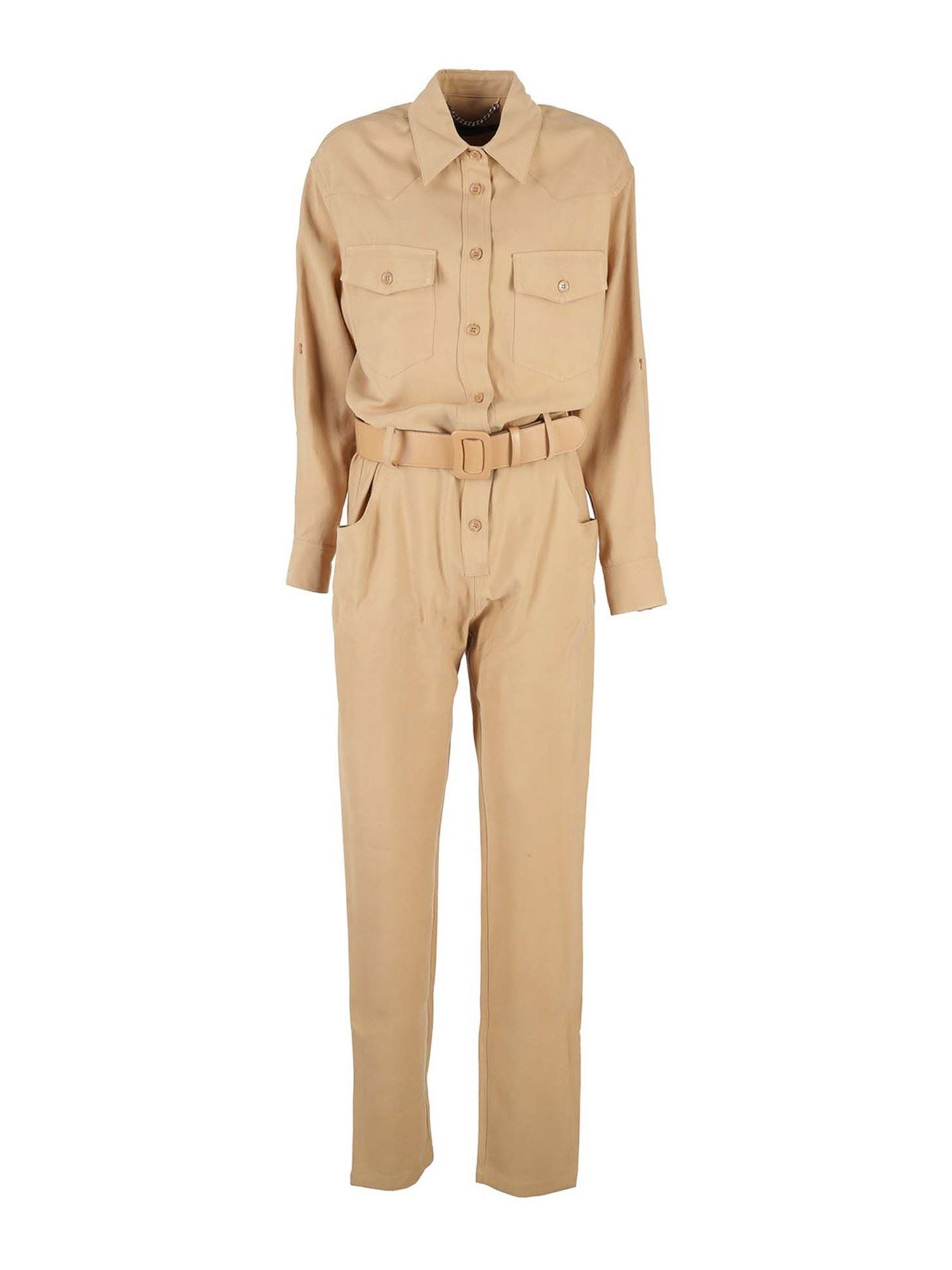 Federica Tosi VISCOSE JUMPSUIT IN BISCOTTO COLOR