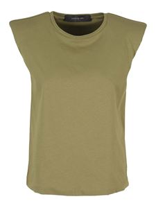 Federica Tosi - Top with shoulder pads in army green