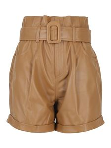 Federica Tosi - Leather shorts in Cammello color