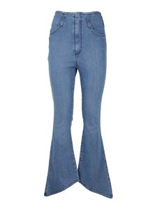 Federica Tosi - Cropped flared jeans in blue