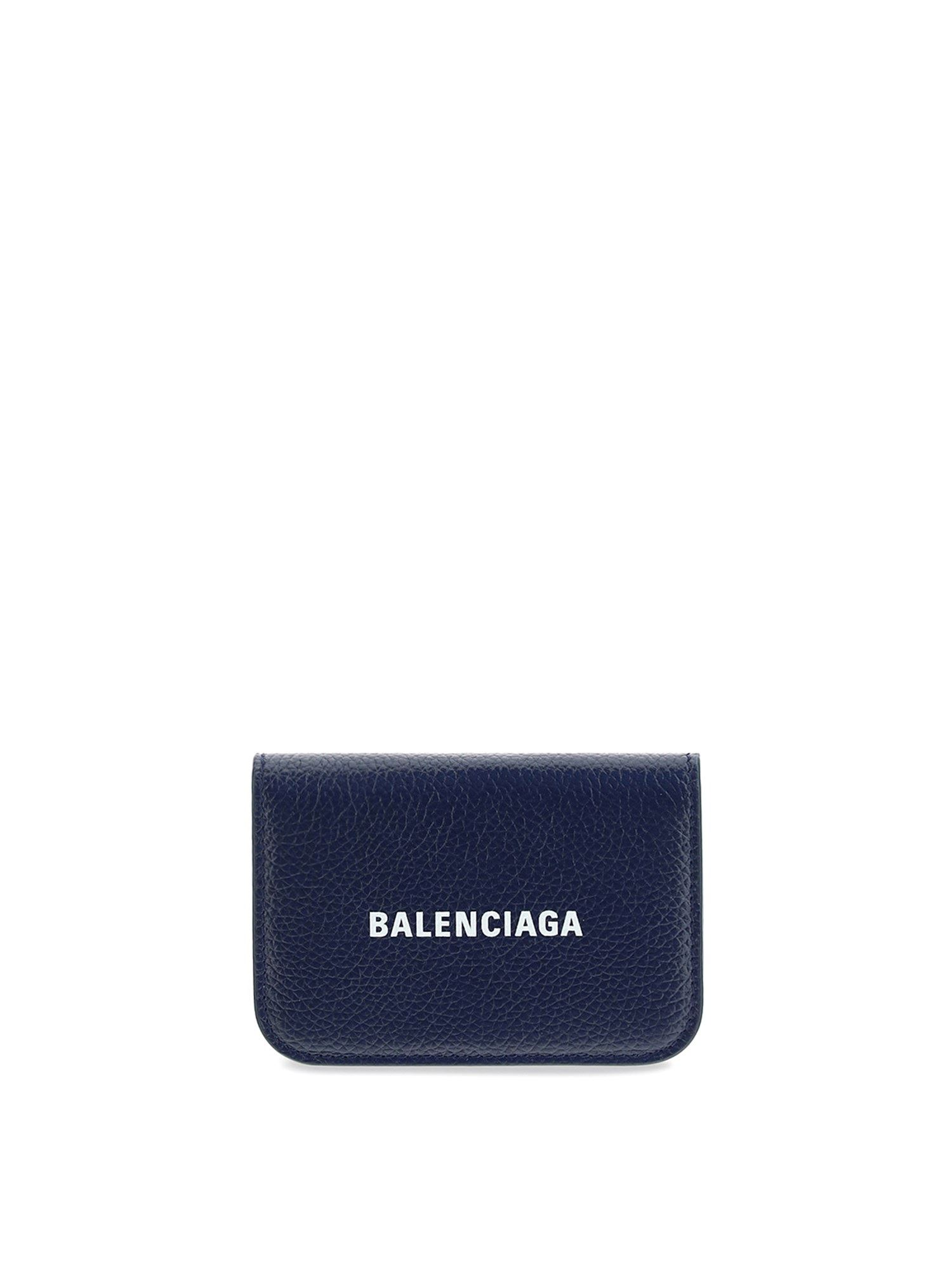 Balenciaga Wallets LEATHER TRIFOLD WALLET IN BLUE