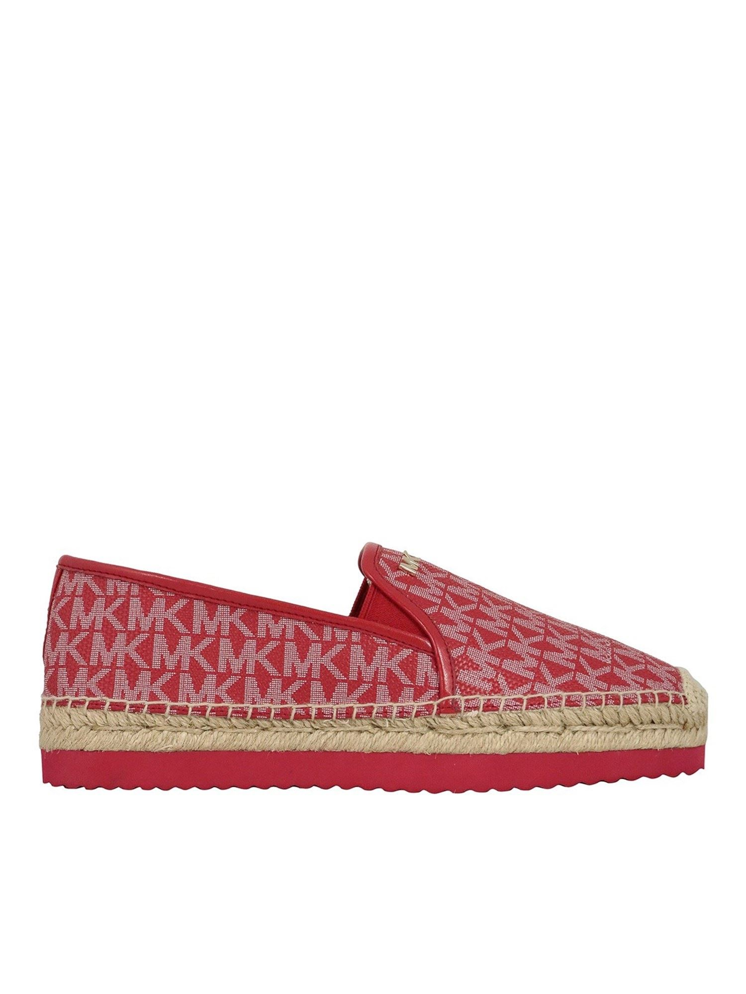 Michael Kors Leathers LOGOED LEATHER ESPADRILLES IN RED