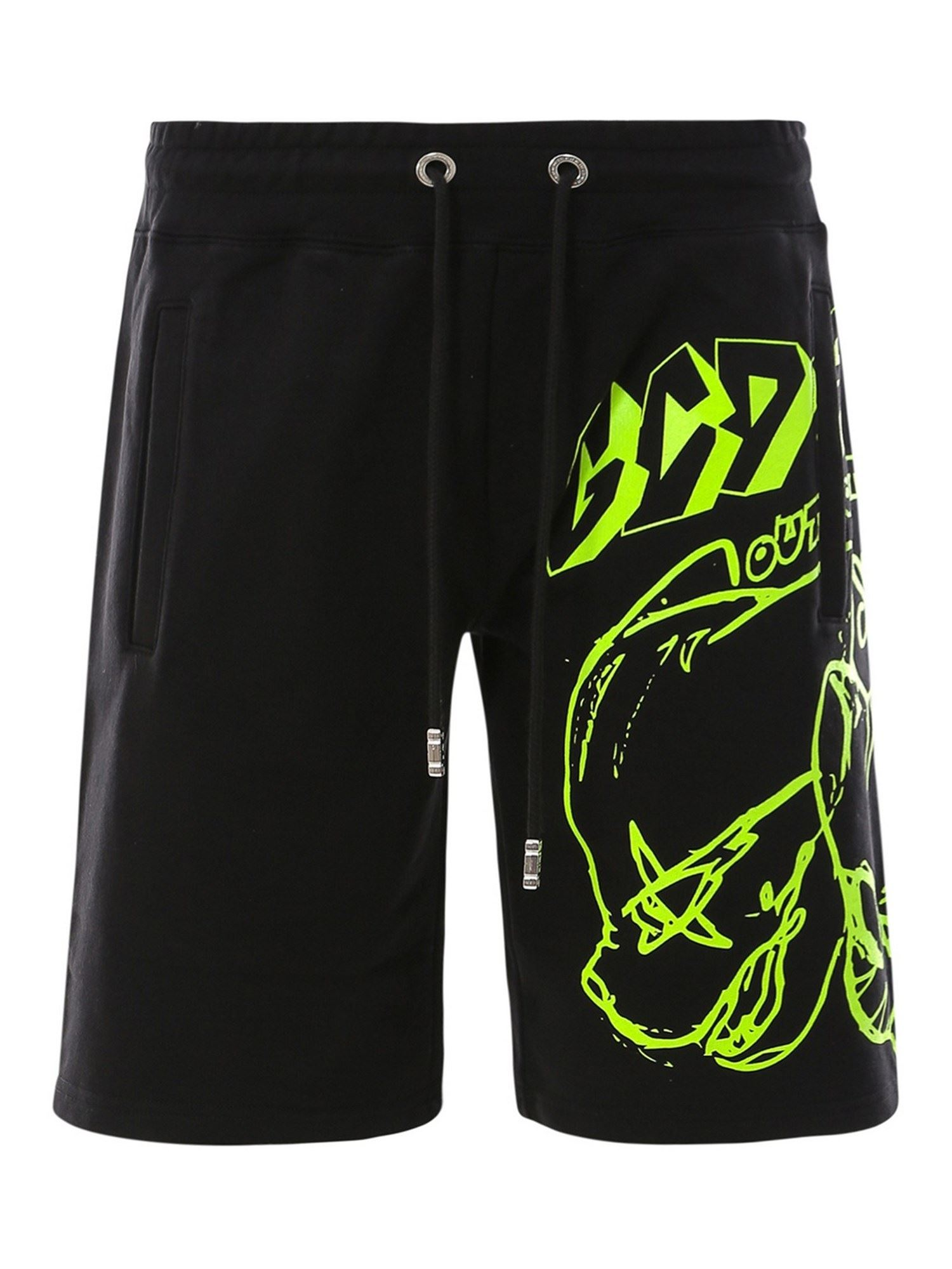 Gcds Cottons BAD CAT SHORTS IN BLACK