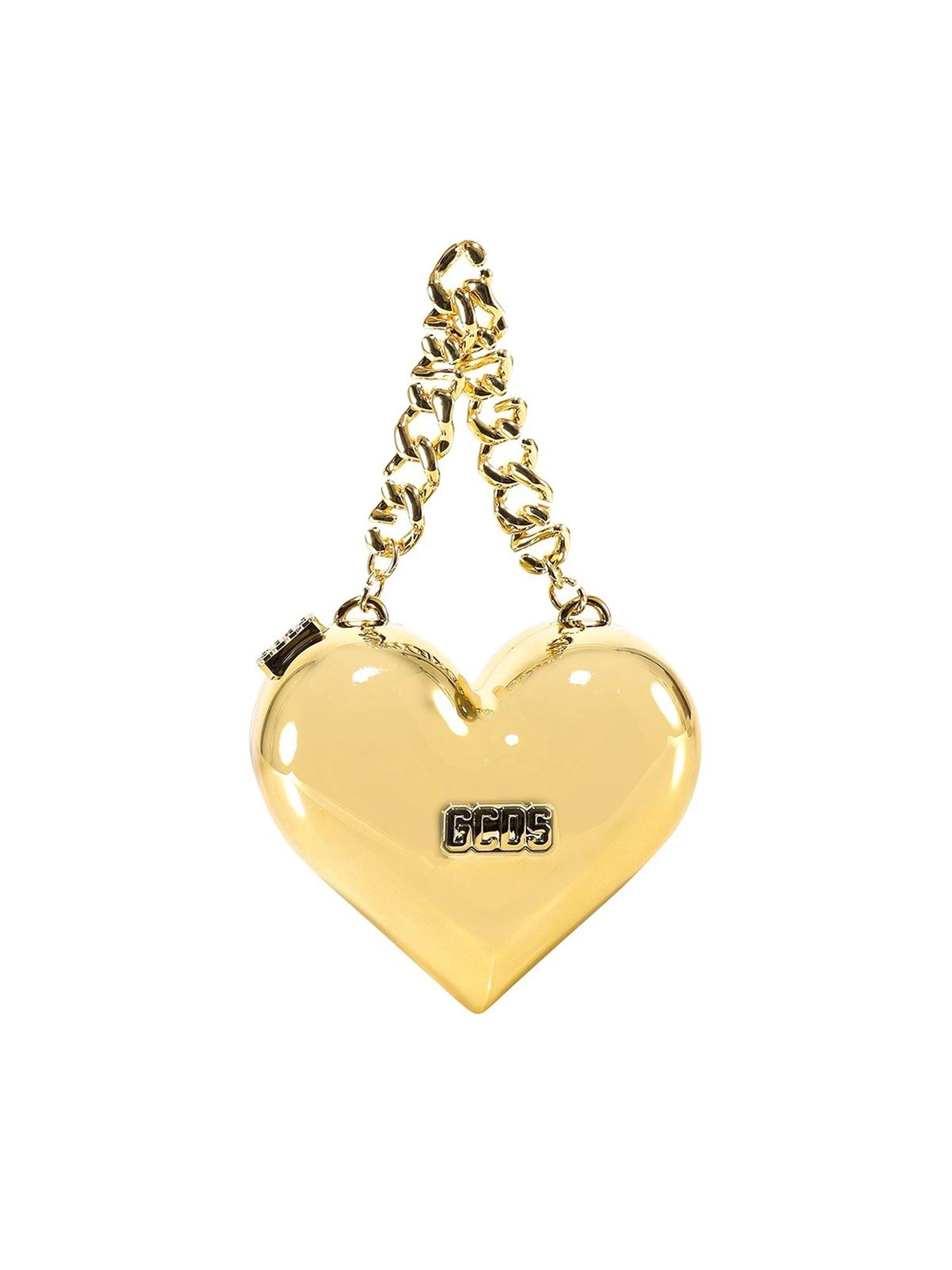Gcds HEART-SHAPED CLUTCH IN GOLD COLOR