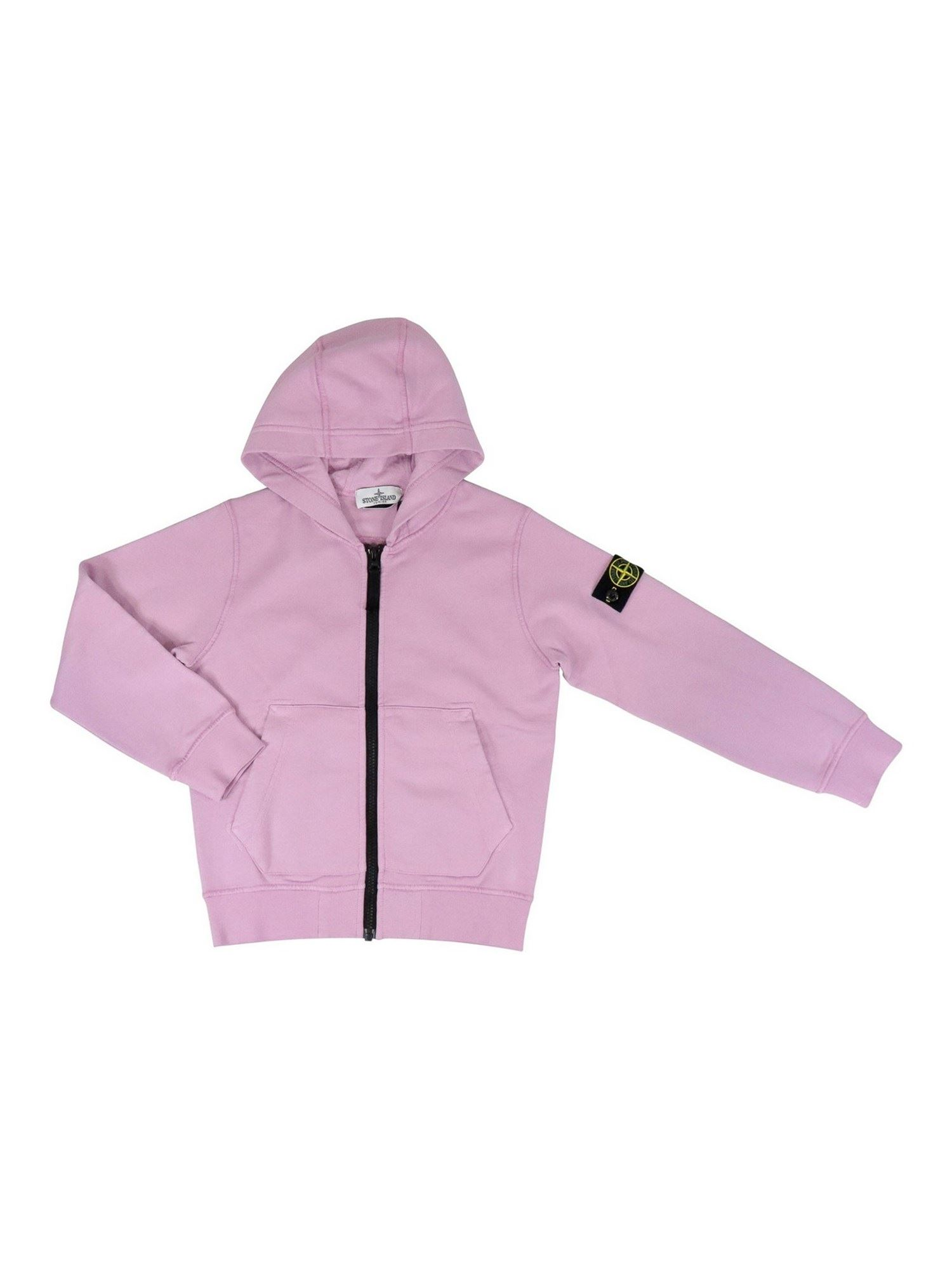 Stone Island Junior Cottons COTTON HOODIE IN PINK