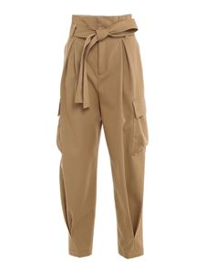 Red Valentino - Cargo carrot fit trousers in beige