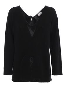Red Valentino - Cotton jumper with bows in black