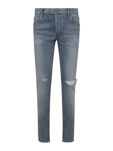 Balmain - Faded skinny jeans with rips