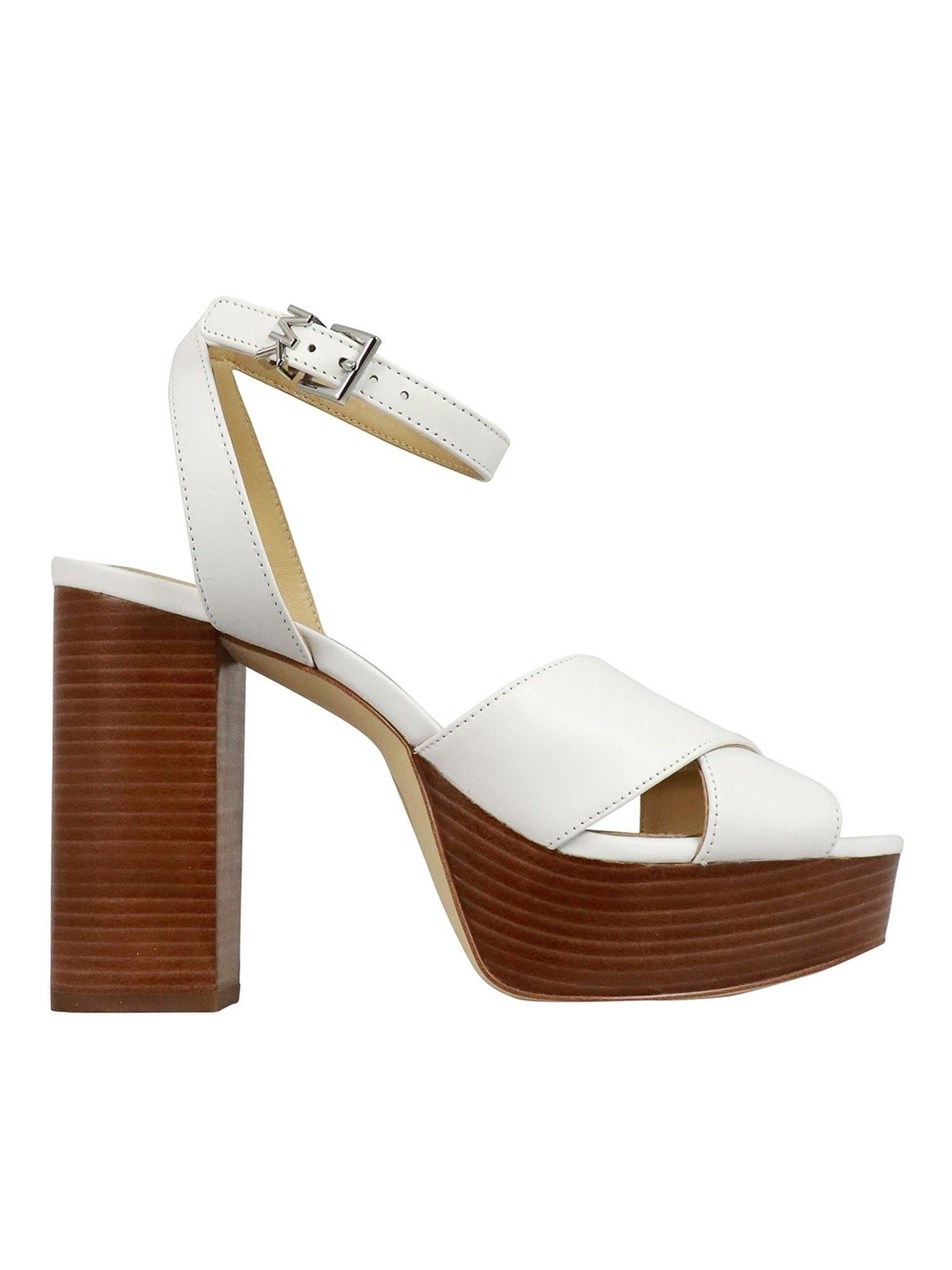 Michael Kors Leathers ODETTE SANDALS IN WHITE