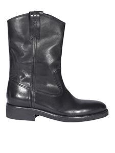 Golden Goose - Smooth leather biker boots in black