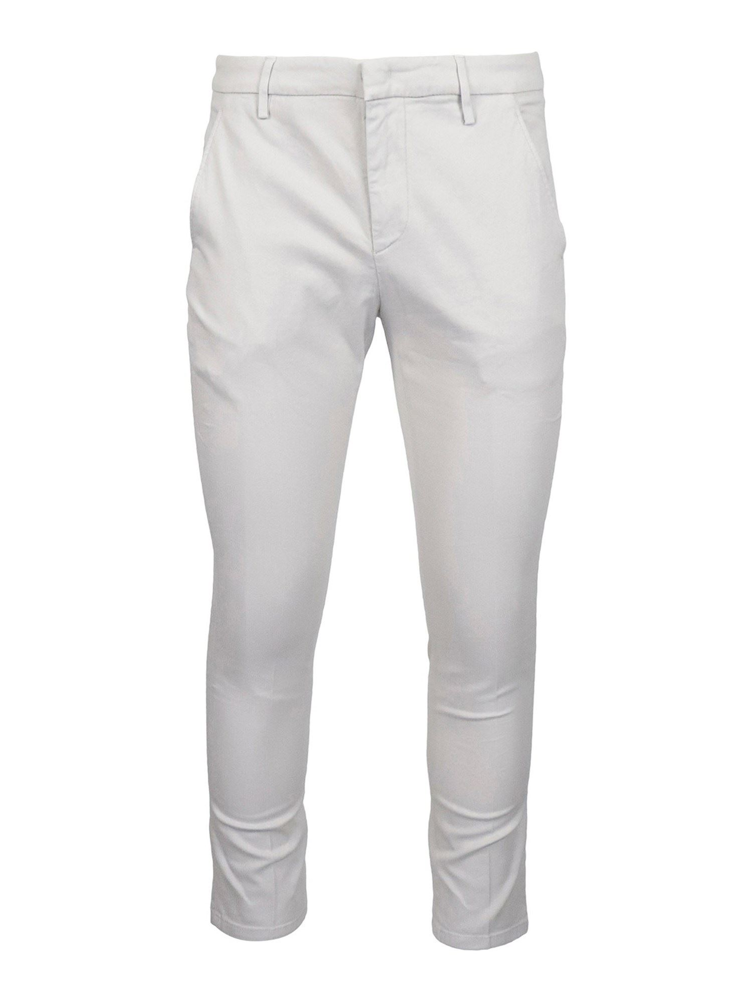 Dondup Cottons ALFREDO PANTS IN GREY