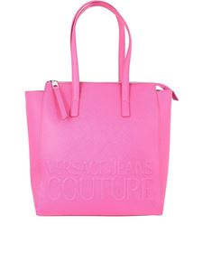 Versace Jeans Couture - Branded shopper bag in fuchsia