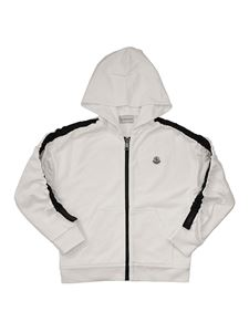 Moncler Jr - Cotton hoodie in white