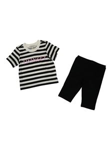 Twin-Set - Completo con T-shirt e shorts nero