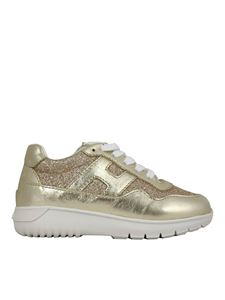 Hogan Junior - Interactive³ sneakers in gold color