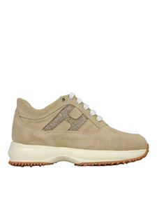 Hogan Junior - Interactive sneakers in beige