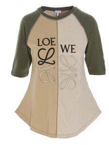 Loewe - Anagram t-shirt in beige and army green