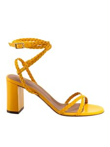 L'Autre Chose - Woven leather sandals in yellow