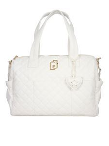 LIU JO Junior - Quilted faux leather changing bag in white