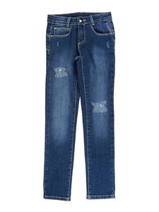 LIU JO Junior - Five-pocket straight leg jeans in blue