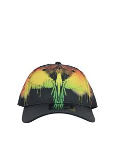Marcelo Burlon Kids - Cappellino nero con logo Wings Spray