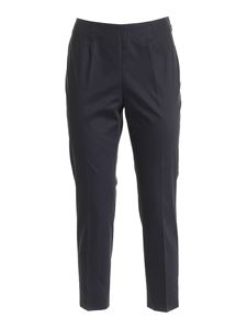 Peserico - High-waisted pants in black
