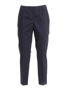 Peserico - High-waisted pants in blue