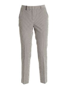 Peserico - Striped pants in white and brown