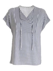 Peserico - Striped top in blue and and white