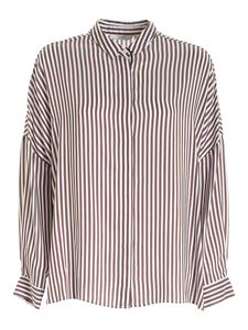 Peserico - Striped shirt in brown and white