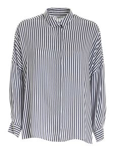 Peserico - Striped shirt in blue and white