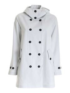 Save the duck - Logo overcoat in ice color