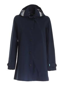 Save the duck - Logo overcoat in blue
