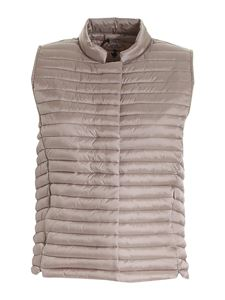 Save the duck - Aria sleeveless puffer jacket in dove grey