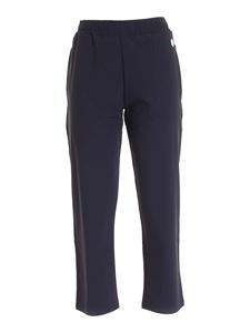 Save the duck - Logo patch pants in dark blue