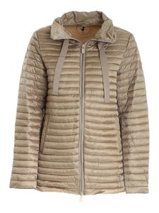Save the duck - High collar puffer jacket in brown