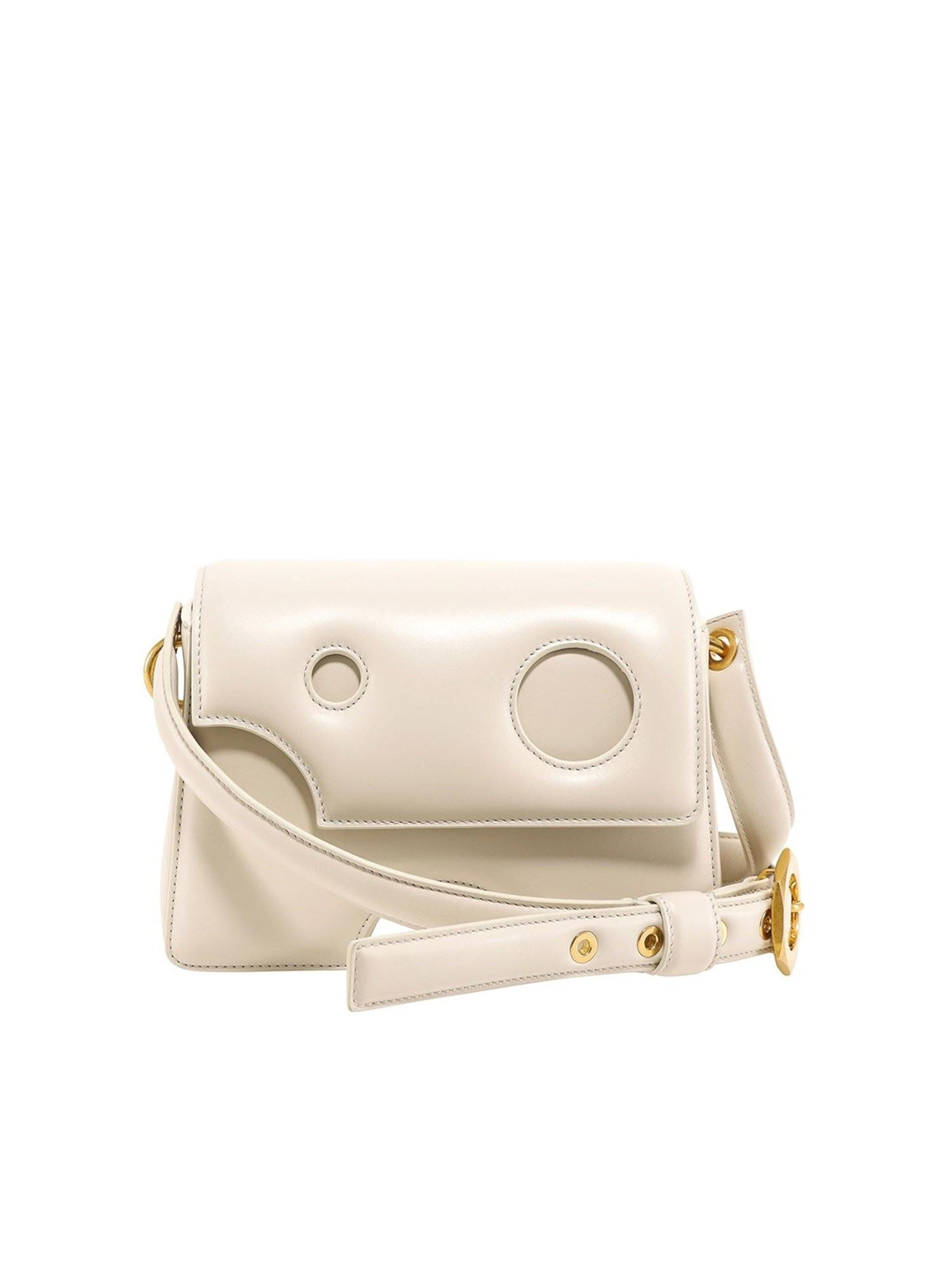 Off-White Leathers BURROW 22 BAG IN WHITE