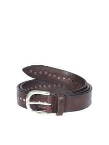 Orciani - Studded belt in brown