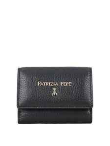 Patrizia Pepe - Wallet with rear coin pocket in black