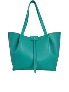 Patrizia Pepe - Pepe City large leather tote bag in green